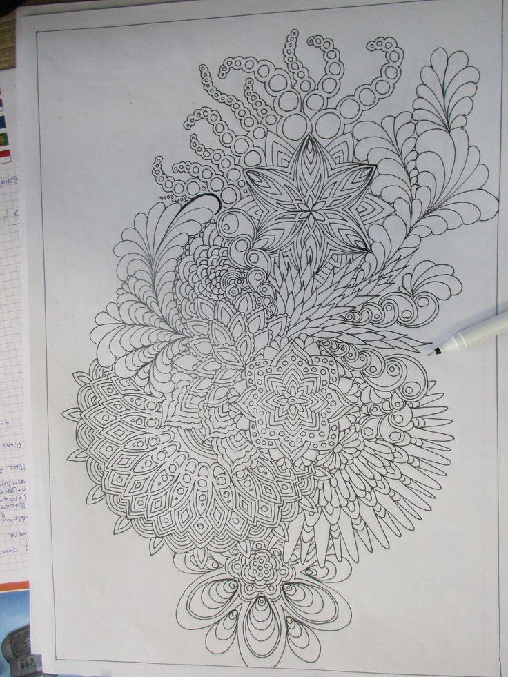 Mandaly a květiny...Předloha relaxační omalovánky. Autor Tomáš Jochim. ww.mandalyaobrazkyzpisku.cz