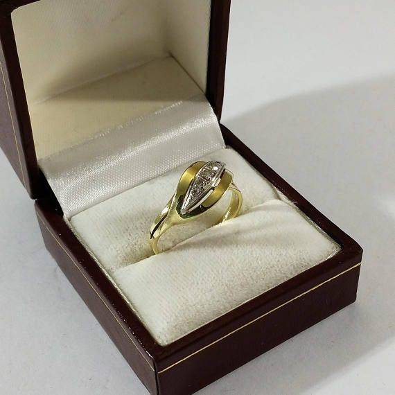 Ring Gold 585 Diamanten edel Vintage selten GR389