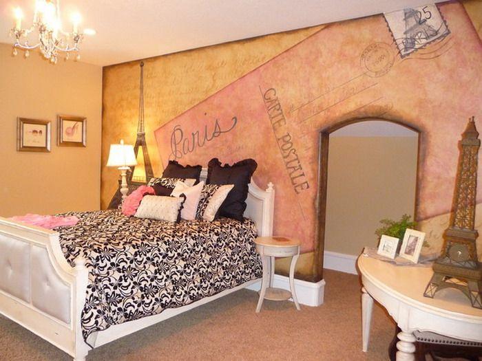 outstanding teen boy bedrooms | Kids Room. Outstanding Paris Wall Painting In Small ...