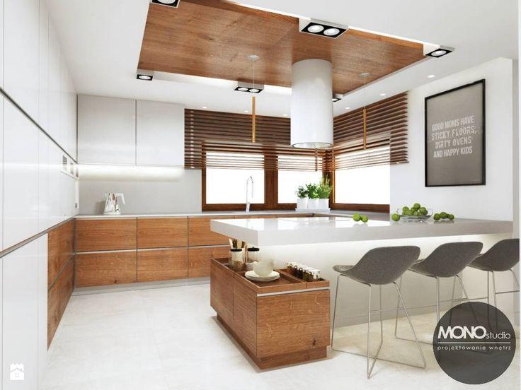Kuchnia w jasnych, ciepłych barwach - zdjęcie od MONOstudio - Kuchnia - Styl Nowoczesny - MONOstudio