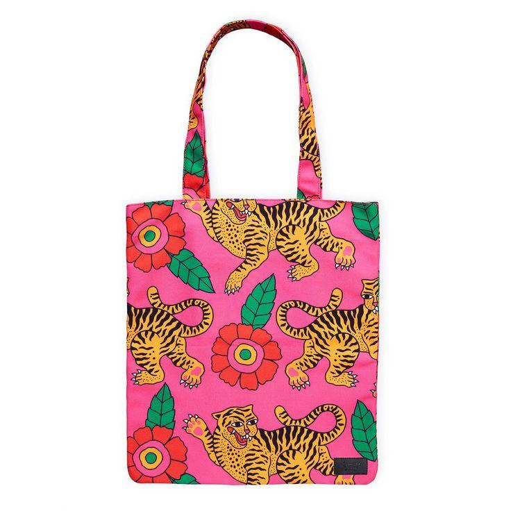 Dancing Tigers Tote Bag