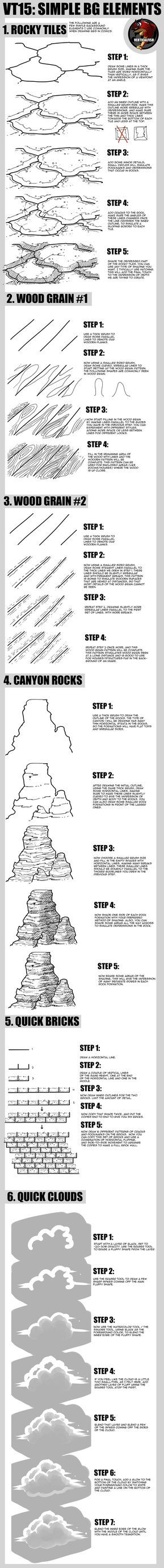 Here's a quick tutorial on simple background textures for those of you who like to draw backgrounds. You can check out my other tutorials: VERTICAL TUTORIALS! fav.me/d2t74ng Background Perspective ...