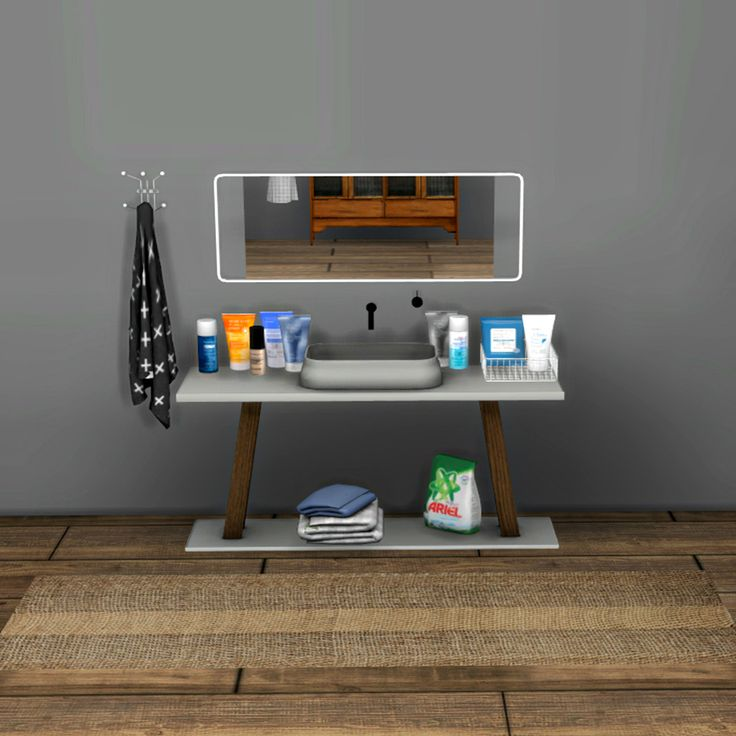 Looking to add a bathroom to your house? sims 4 cc // custom content clutter decor bathroom clutter ...