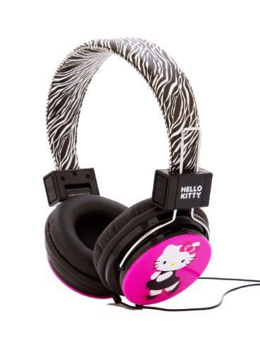 Hello Kitty HK-ZEB-WM Headphones with Zebra Design //Price: $ & FREE Shipping // World of Hello Kitty https://worldofhellokitty.com/product/hello-kitty-hk-zeb-wm-headphones-with-zebra-design/    #hellokitty