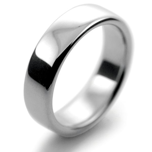 Platinum Wedding Rings Slight or Soft Court Heavy - 6mm