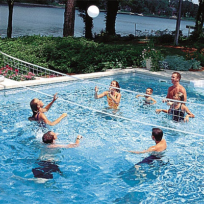 two in one swimming pool game set water basketball pool volleyball. Black Bedroom Furniture Sets. Home Design Ideas