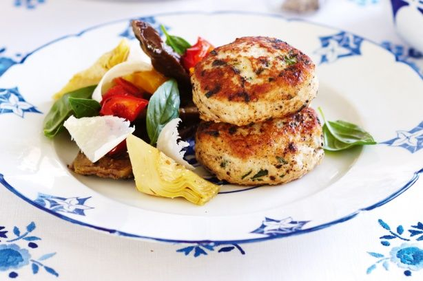Lemon, chicken and parmesan rissoles