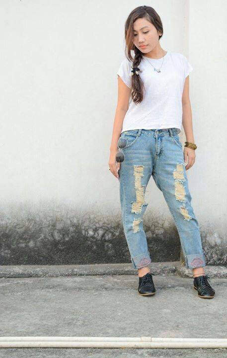 Ripped denim.  To buy drop a comment