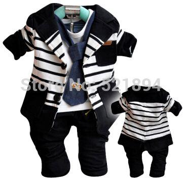 $22.60 (Buy here: https://alitems.com/g/1e8d114494ebda23ff8b16525dc3e8/?i=5&ulp=https%3A%2F%2Fwww.aliexpress.com%2Fitem%2Fkids-striped-formal-dress-no-faded-3pcs-boys-blazers-infant-clothing-sets-boy-autumnal-clothing-kids%2F1142622501.html ) clearance kids striped formal dress clothing sets baby&kids blazers chidren outwear boys clothes kids apparel outfits for just $22.60