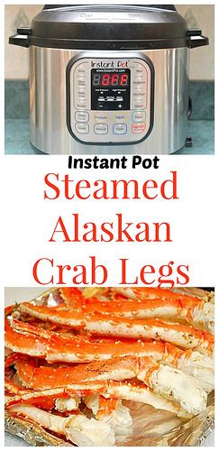 Instant Pot Steamed Alaskan Crab Legs may look intimidating, but they're totally easy in the instant pot!