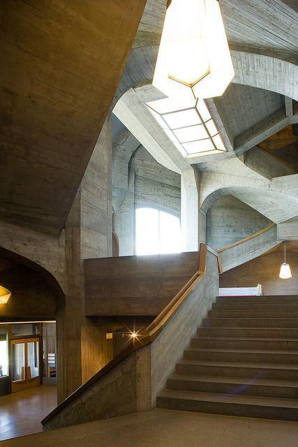 Rudolf Steiner, Second Goetheanum, Dornach, Switzerland, 1925-28  #GISSLER #interiordesign