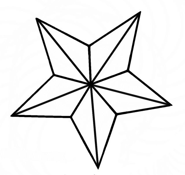 The  Best Star Outline Ideas On   Star Template