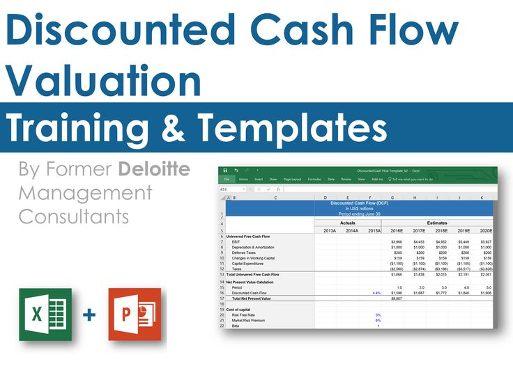 dcf analysis excel