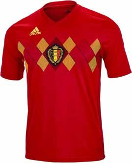 Kids 2018 adidas Belgium Home Jersey. Shop for this shirt at www.soccerpro.com