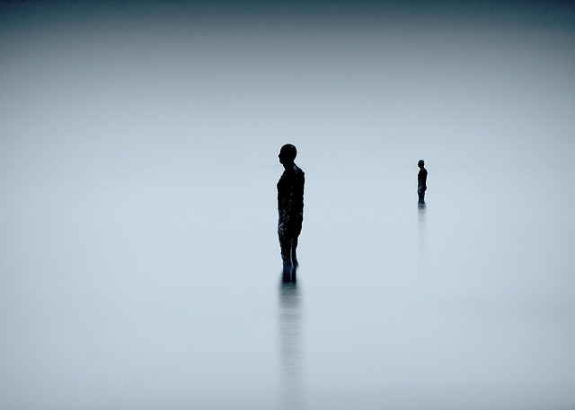 Another Place antony gormley-----walking on glass (another place)  martinpickard.me/wordpress/   martinpickard.redbubble.com/   wow, thanks everyone No 31 on explore and front page :-) Uploaded on my birthday, great birthrday treat, thanks   Had another trip up to the Antony Gormley sculptures,Another place. Had a plan to do some long exposures with lots of movement from the sea, found a perfectly still calm sea. 10 second exp with nd0.9. before sunrise