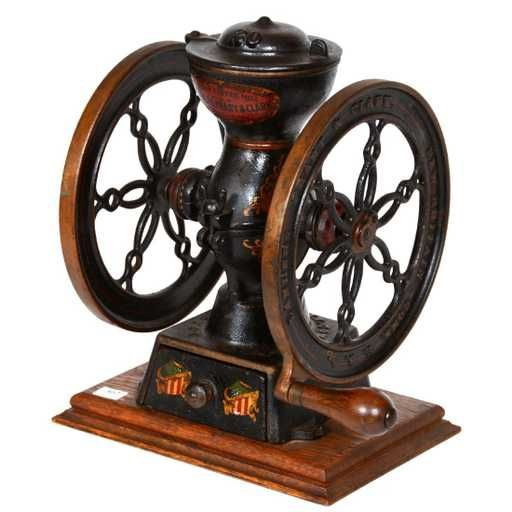 Lot: Original Cast Iron Coffee Grinder, Lot Number: 0307, Starting Bid: $100, Auctioneer: Woody Auction LLC, Auction: Antique Auction - , Date: January 27th, 2018 EST