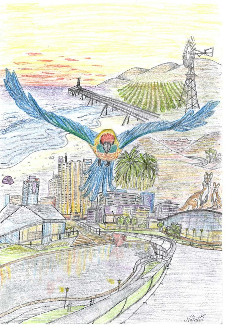 SAWeekend Magazine Youth Issue Cover Competition entry by Natalie Centofanti #Adelaide #SA #art #design #magazine #SouthAustralia #cover #artist #youth