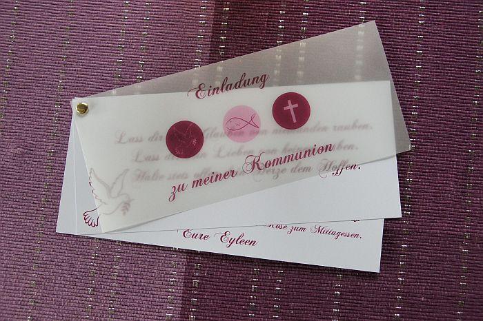 ♥ Einladungskarte Kommunion Einladung Danksagung von Designisch auf DaWanda.com