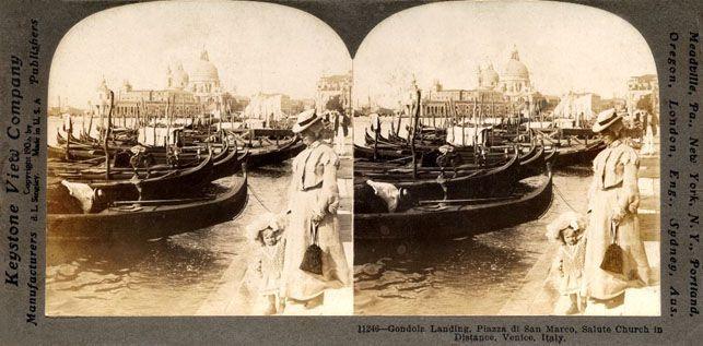 Foto da #stereoscopio con soggetto #Venezia. Proiettando #Venezia! Giorno 12 e 26 aprile