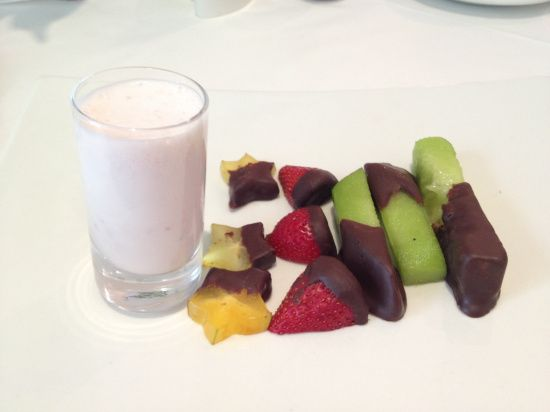 Is it a dessert or a breakfast? It was still a decadent & healthy start to the day.