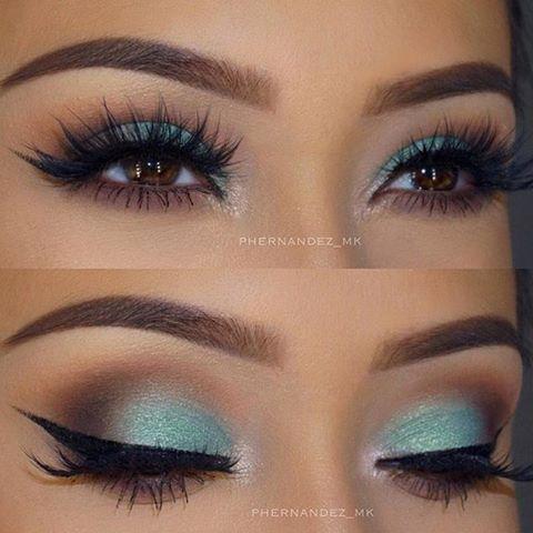 She used her trustee  @makeupaddictioncosmetics brushes to create this! http://www.makeupaddictioncosmetics.com/