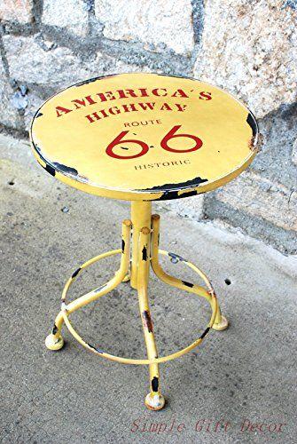 Yricas Round Antique Metal Stool America Route 66 Yricas Design http://www.amazon.com/dp/B00RDID1X0/ref=cm_sw_r_pi_dp_dVp7ub1XBBBJP