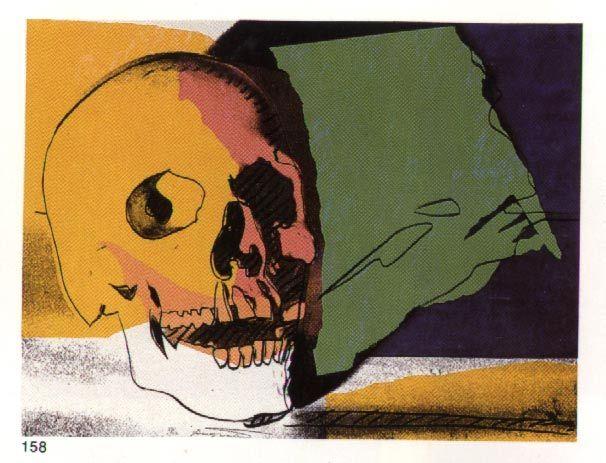 'Crâne', huile de Andy Warhol (1928-1987, United States)