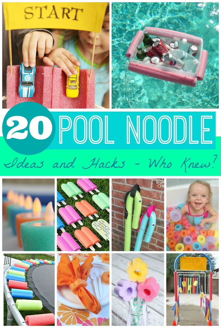 Summer Ideas - ready for the sun? Check out these Pool Noodle Hacks and Ideas. Craft Ideas, Pool Uses, Yard and Party Hacks on Frugal Coupon Living.