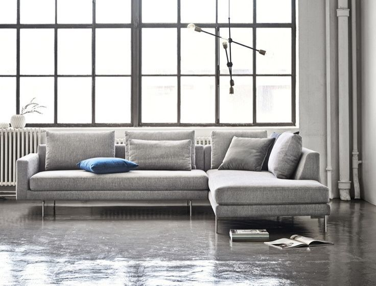 Edge Sofa with Chaise in Doe