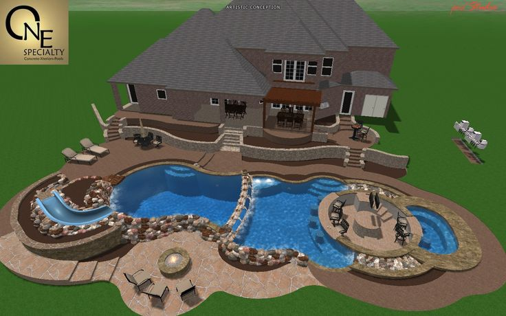 backyard - his swim up bar