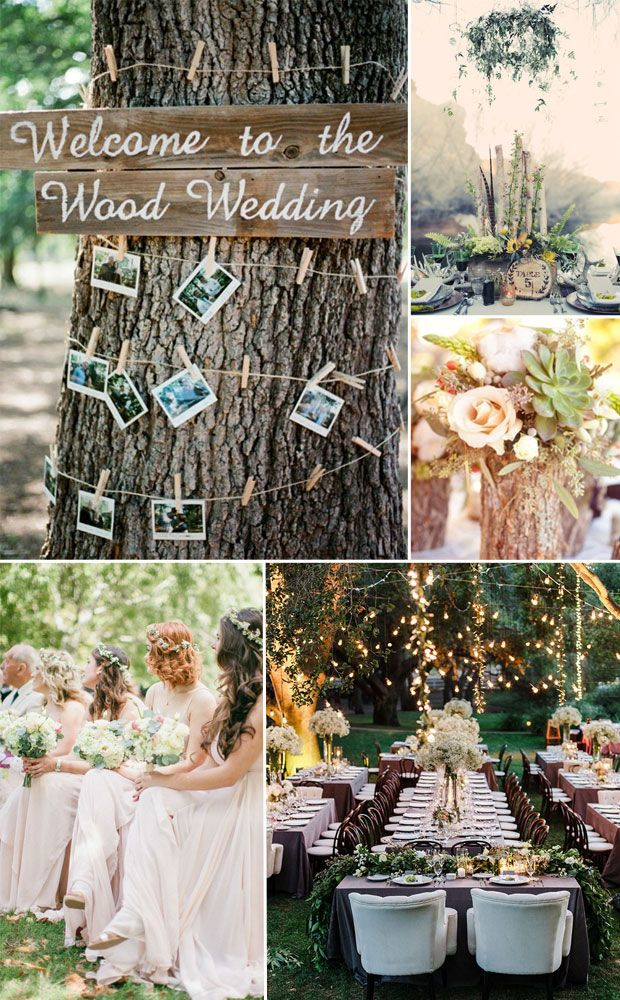 woodland forest wedding ideas and themes for wedding trends 2015