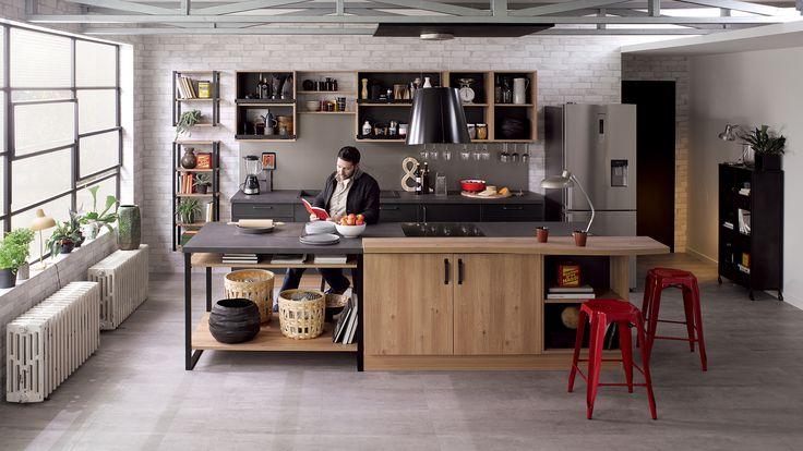 Cuisine équipée Square - Style Design - Couleurs sourdes   Cuisinella