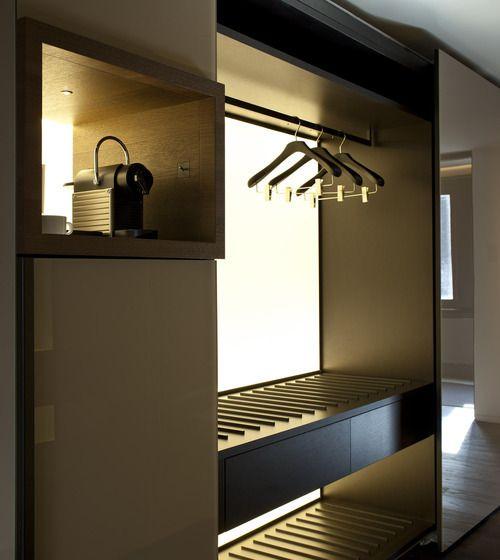 gorgeous lighting for the wardrobe = Conservatorium Hotel, Amsterdam _ by Pierro Lissoni _