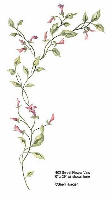 machine embroidery vines and flowers - Google Search