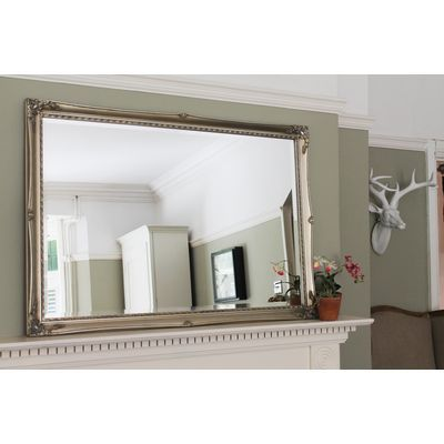 Silver Gilt Ornate Overmantle Juliet Mirror from Ayers and Graces