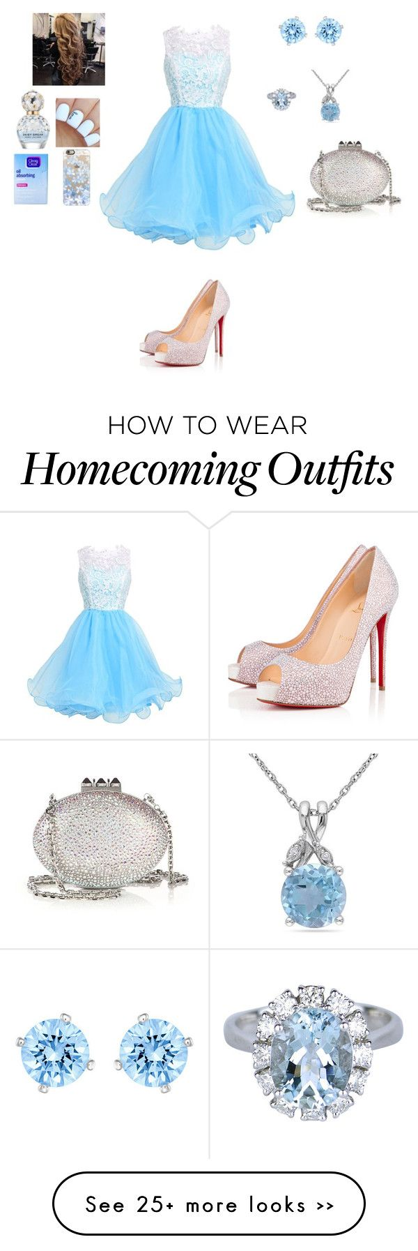 """""""Untitled #459"""" by pink-sparkl on Polyvore featuring Christian Louboutin, Marc Jacobs, Clean & Clear, Casetify, Swarovski and Amour"""