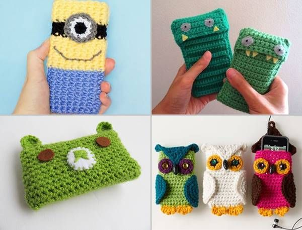 30 Stylish DIY Crochet Phone Cases