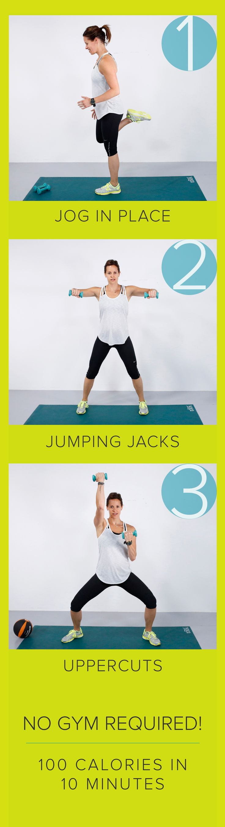 Burn 100 calories in 10 minutes: The fast total body workout you can do at home