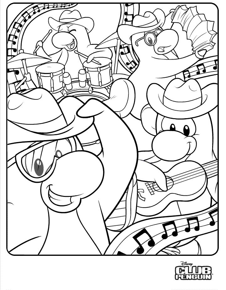 Best Club Penguin Cool Coloring Pages