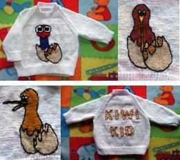 Baby/Toddler Jumper Pattern featuring Pukeko and by KraftyKiwis