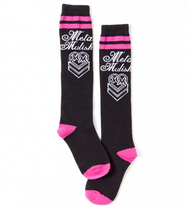 metal mulisha maidens tub socks pink and black
