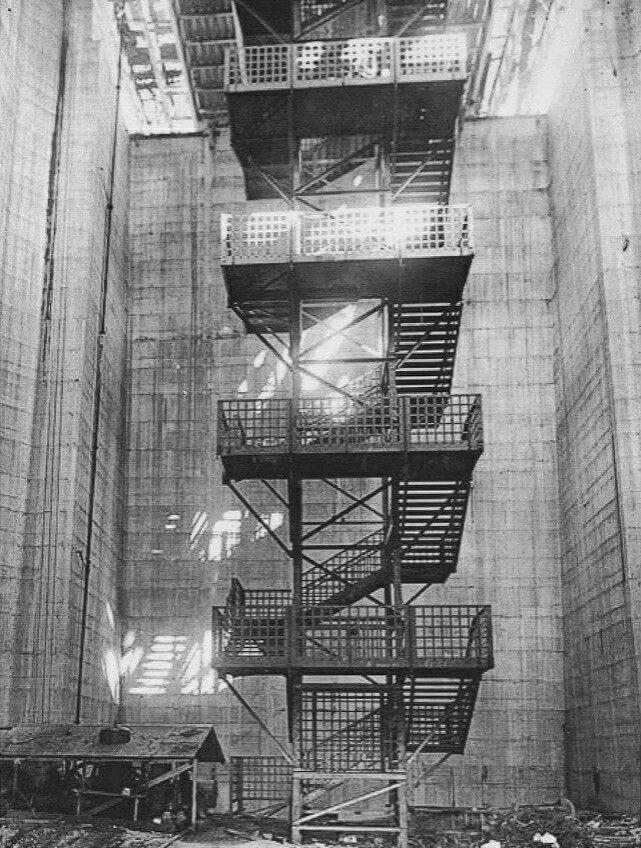 Inside the pylons of the Sydney Harbour Bridge.