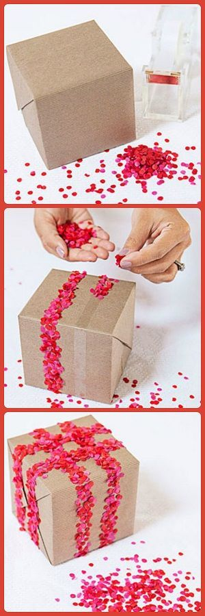 Confetti Bomb Gift Wrap - A little time consuming, but original / Good Housekeeping