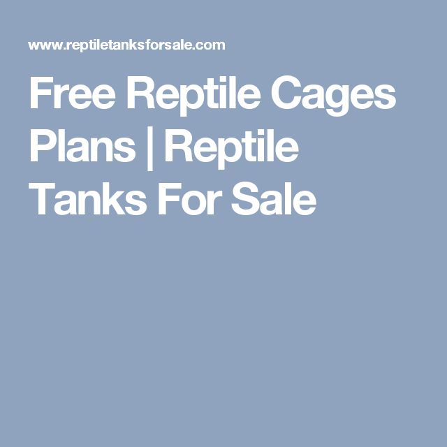 Free Reptile Cages Plans | Reptile Tanks For Sale