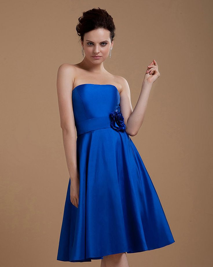 Best 25 royal blue bridesmaids ideas on pinterest royal for Short blue wedding dresses