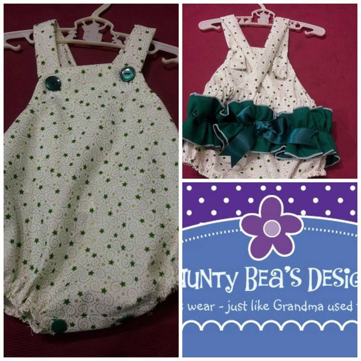 Handmade by Aunty Bea's Designs Christmas frilled romper, one ruffle on back, made from 100% cotton.