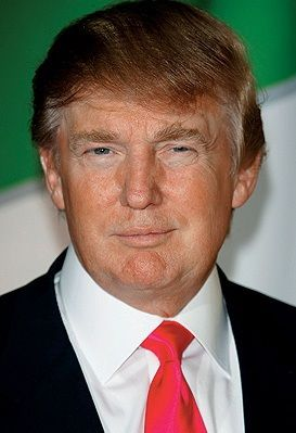 ...a combover. Also, despite bloviation, does not win the 2016 Presidential election.