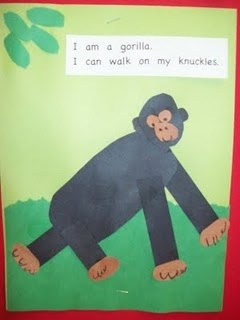 Also Math.  Goes with the book One Gorilla by Atsuko Morozumi.
