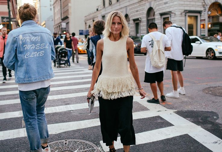 Holli Rogers in a Céline top:
