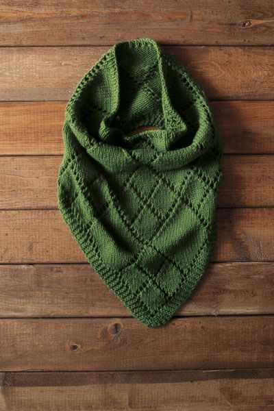 Knitting pattern from Knit Picks - Diamond Kerchief Cowl by Alexis Hoy. Supposedly will take 100 grams of worsted $1.99